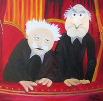 Malerei, Kinder, Opa, Muppet