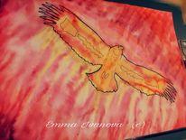 Fliegen, Freiheit, Gelb, Adler