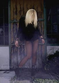 Gothic, Blond, Tür, Dunkel