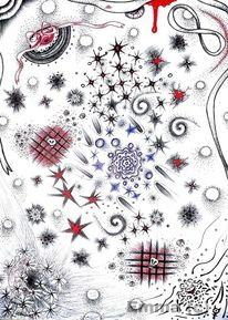 Stern, Düster, Kugel, Rot schwarz