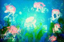 Rosa, Meer, Qualle, Blau