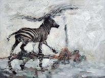 Figural, Weite, Zebra, Gefällig