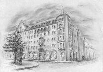 Fassade, Altstadt, Kreuzung, Zeichnen