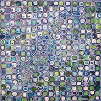 Abstrakt, Malerei, Meditation, Blau