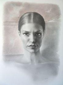 Mischtechnik, Porträtmalerei, Malen, Portrait