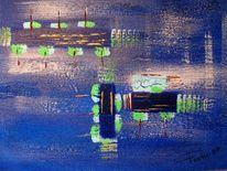 Acrylmalerei, Malerei, Abstrakt, Jeans
