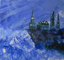 Acrylmalerei, Landschaft, Malerei, Riff
