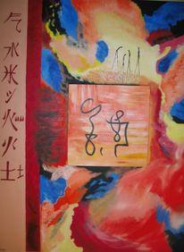 Malerei, Luft, Tanz, Feuer