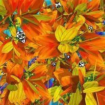 Pflanzen, Orange, Gelb, Blätter
