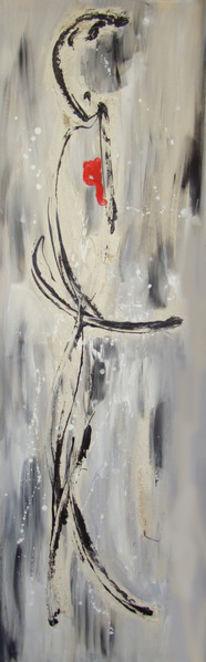 Gebrochenes herz, Abstrakt, Kummer, Malerei