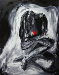 Figural, Schmerz, Malerei, Gedanken