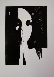 Frau, Hoffnung, Trauer, Grafik
