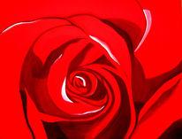 Lasurtechnik, Blumen, Rose, Malerei