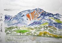 Aquarellmalerei, Murnau, Malerei, Landschaft