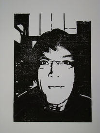 Selbstportrait, Grafik, Portrait
