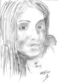 Skizze, Portrait, Malerei