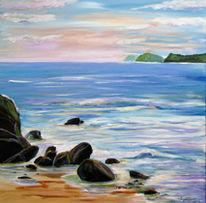 Malerei, Agilas, Meer, Blau