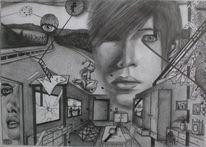 Durcheinander, Zeichnungen, Surreal