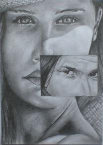 Zeichnungen, Portrait, Sehnsucht, Anfang