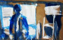 Malerei, Taxi, Skizze, Fahrer