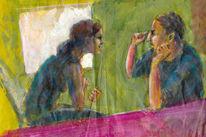 Tusche, Menschen, Malerei, Acrylmalerei