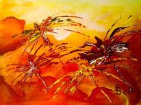 Elemente, Malerei, Feuer, Rot