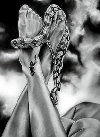 Paradies, Zeichnung, Akt, Fuß
