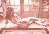 Erotik, Akt, Malerei, Figural