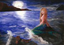 Malerei, Gouachemalerei, Fantasie, Surreal