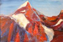 Malerei, Landschaft, Bischof