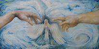 Akt, Frau, Engel, Malerei