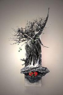 Baum, Rot, Winter, Früchte