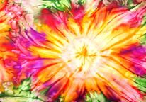 Sonne, Blumen, Tuch, Seidenmalerei