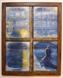 Fenster, Figural, Acrylmalerei, Zerbrechen
