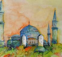 Landschaft, Istanbul, Türkei, Malerei