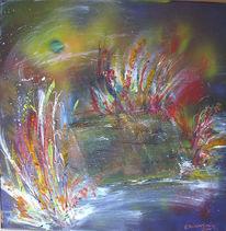 Malerei, Zelt, See