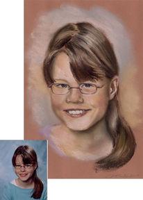 Kreide, Pastellmalerei, Zeichnung, Portrait