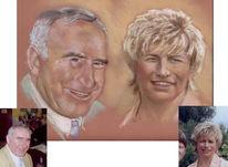 Portrait, Pastelle, Kreide, Zeichnung