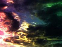Fotografie, Farbsturm, Wolken, Licht