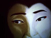 Gesicht, Malerei, Maske, Unterdrückung