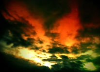 Abend, Fotografie, Glut, Himmel