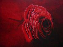 Stillleben, Schatten, Rose, Malerei
