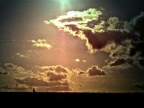 Farben, Wolken, Licht, Wanderer