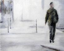 Mann, Weg, Malerei, Menschen