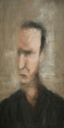 Mann, Malerei, Figural, Unscharf