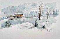 Frost, Salzburg, Bauernhof, Schnee