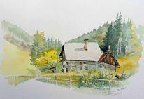 Keusche, Hütte, Österreich, Wald