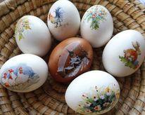 Gekocht, Ostern, Ei, Aquarell