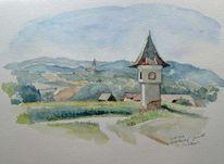 Kapelle, Plein, Landschaft, Luft