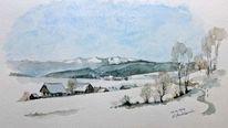 Winterlandschaft, Ein paar, Steiermark, Tag